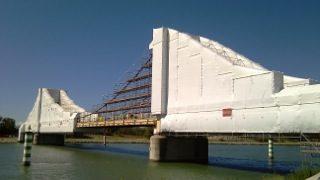 Scaffolding bridge wrap